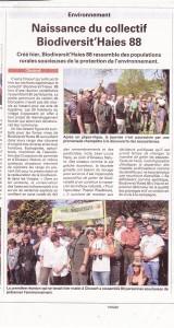 Naissance du Collectif Biodiversit'Haies 88 à Circourt - Vosges Matin 10-04-2011