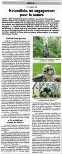 Naturaliste, un engagement pour la nature-Echo des Vosges juin 2015
