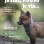 Affiche expo renard Thaon Les Vosges - 2015