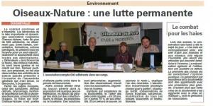 AG du 04 octobre 2015 - Vosges Matin du 08-10-2015