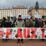 38 Manifestation contre les tirs de loups Lyon 16-01-2016