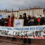 39 Manifestation contre les tirs de loups Lyon 16-01-2016
