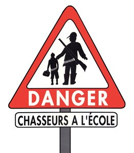 Danger chasseurs dans les écoles - Image ASPAS