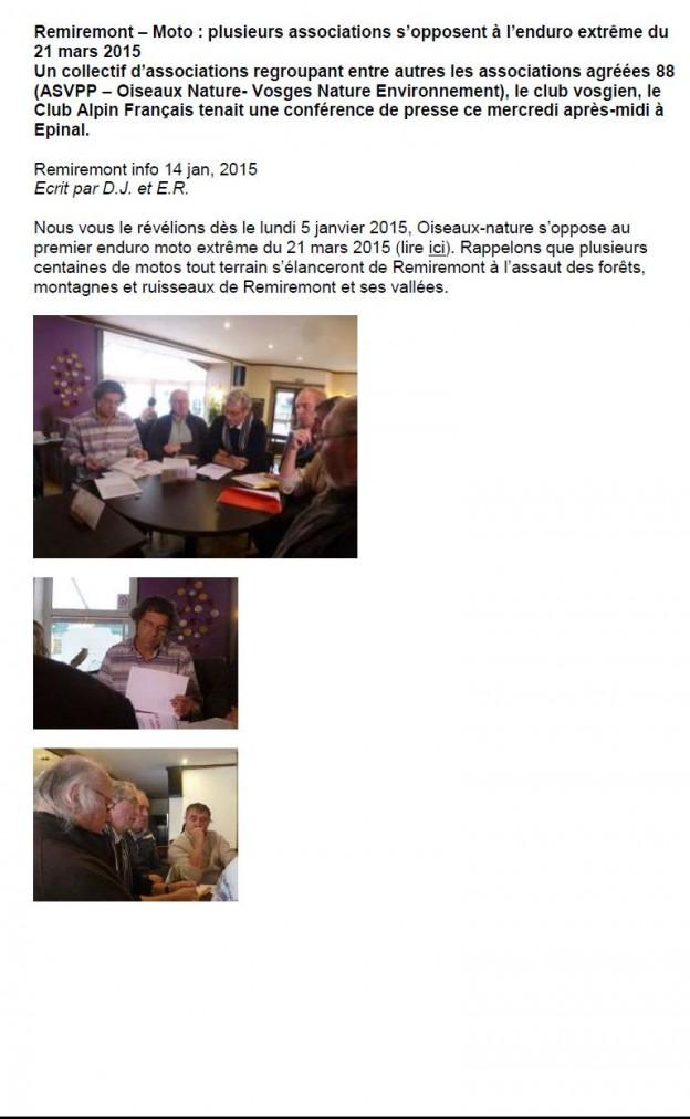 Remiremont info Enduro extrême Remiremont Info 14-01-2015