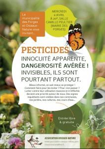Affiche soirée pesticide du 06-04-2016 - Ois Nat-Mairie des Forges