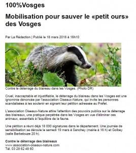 Mobilisation pour sauver le petit ours de nos forêt - 100pour100 Vosges 17-03-2016.docx