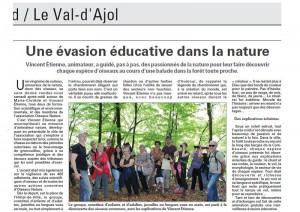 Une évasion éducative dans le nature Vosges Matin 24.05.2016