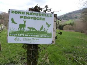 Panneau Ois nat zone naturelle protégée