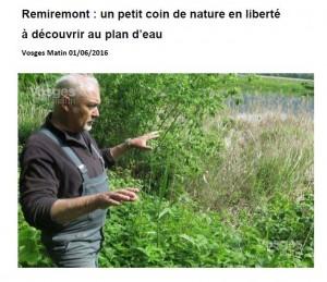 Remiremont un petit coin de nature à découvrir au plan d'eau - Vosges Matin 01-06-2016