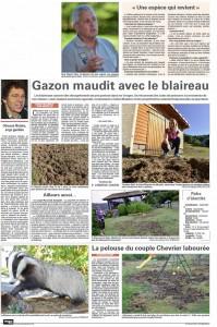 Gazon maudit - Vosges Matin 25-09-2016