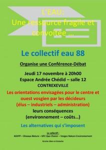 Affiche-Conference-L'eau une ressource fragile et convoitee-Le 17-11-2016