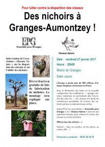 Pour lutter contre la disparition des oiseaux des nichoirs à Granges-Autmontzey - 27-01-2017