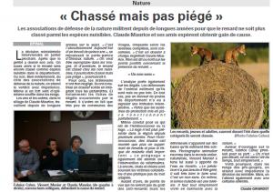 Chassé mais pas piégé Vosges Matin 12-12-2014