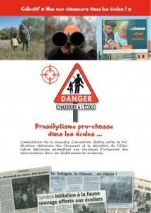 Dossier Non aux chasseurs dans les écoles - 2015