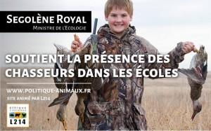Ségolène Royal soutient les chasseurs dans les écoles