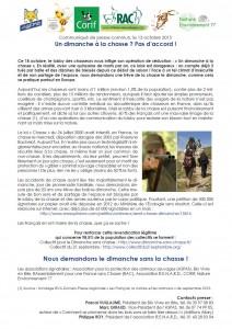 Un dimanche à la chasse pas d'accord - Collectif pour le Dimanche sans chasse 13-10-2015