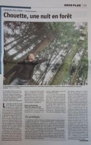 Chouette une nuit en forêt - Vosges Matin 11-03-2017