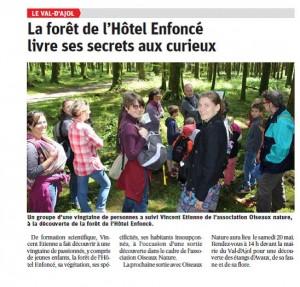 Val d'Ajol La forêt de l'Hôtel Enfoncé livre ses secrets aux curieux Vosges matin 17-05-2017