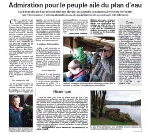 Admiration pour le peuple palmé du plan d'eau de Remiremont - Vosges Matin du 17-11-2014