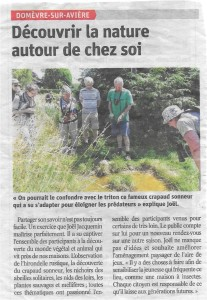 Domèvre sur Avière Découvrir la nature autour de chez soi - Vosges Matin 23-07-2018