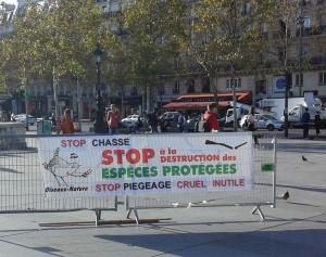 Rassemblement contre la chasse Paris 13-10-2018