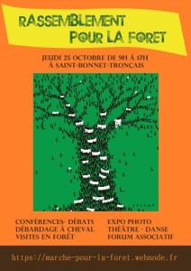 Rassemblement pour la forêt - Saint Bonnet Tronçais 25 octobre 2018