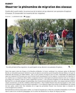 Rugney Observer le phénomène de migration des oiseaux - Vosges Matin 09-10-2018