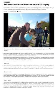Uxegney Belle rencontre avec Oiseaux Nature à Uxegney Vosges Matin 21-10-2018