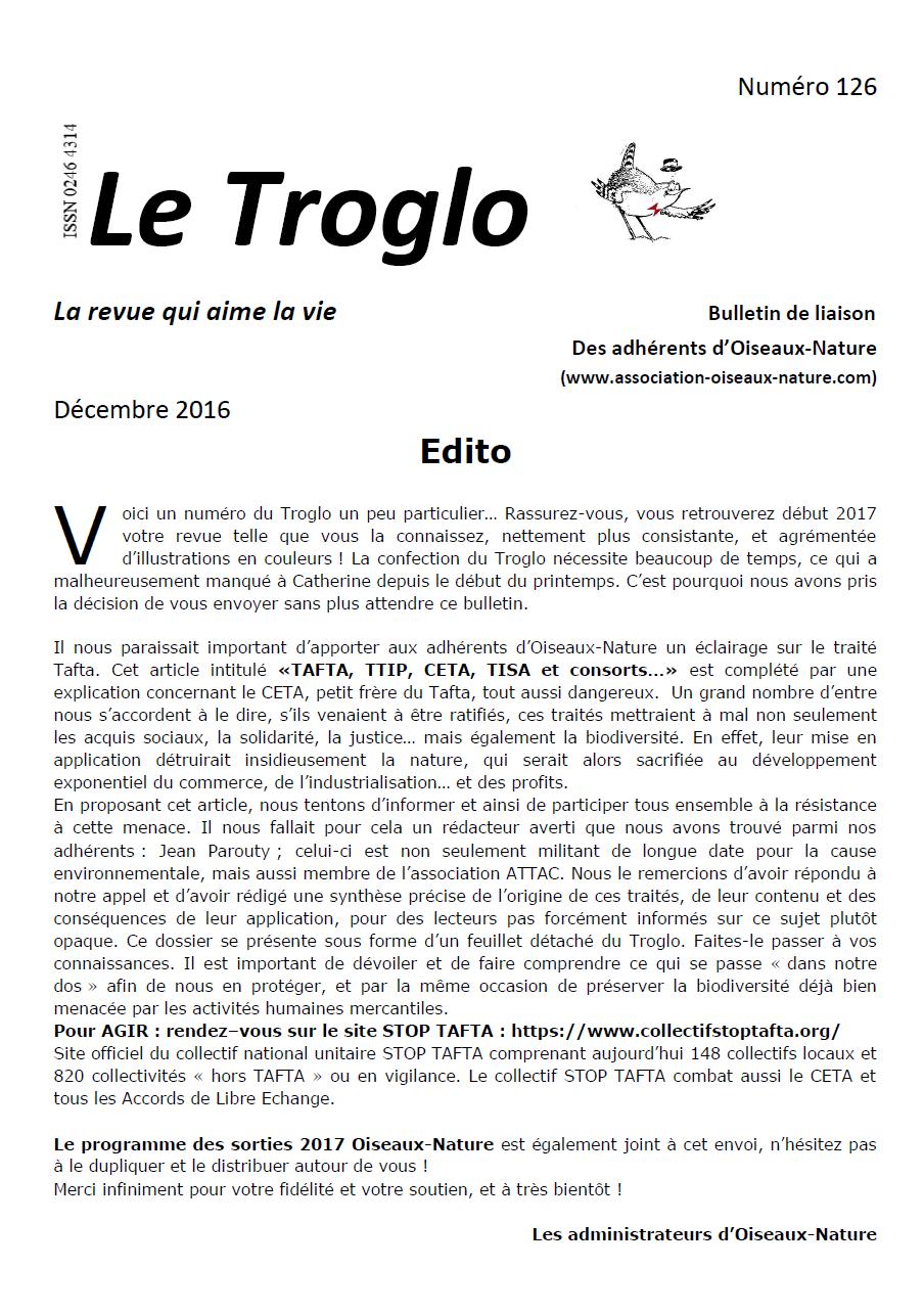 Le Troglo n°126 Décembre 2016