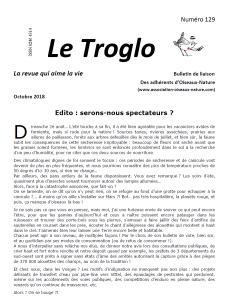Le Troglo n°129 Octobre 2018