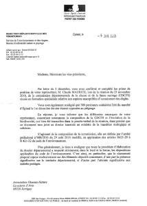 """réponse du Préfet le 04-01-2019-1 - liste """"nuisibles"""" chasse piégeage"""