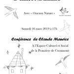 Affiche Parlons ensemble d'hirondelles à Cornimont le 16-03-2019