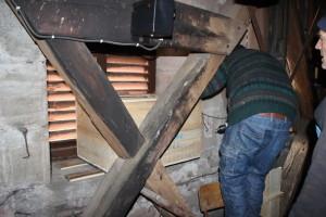 Nichoir dans le clocher de l'église du Val d'Ajol 2 - Janvier 2020