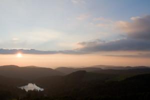 Le lac des Landes depuis le Hohneck © Nicolas Hélitas