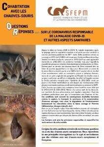 Cohabitation avec les chauves-souris questions-réponses Covid-19 SFEPM - 2020