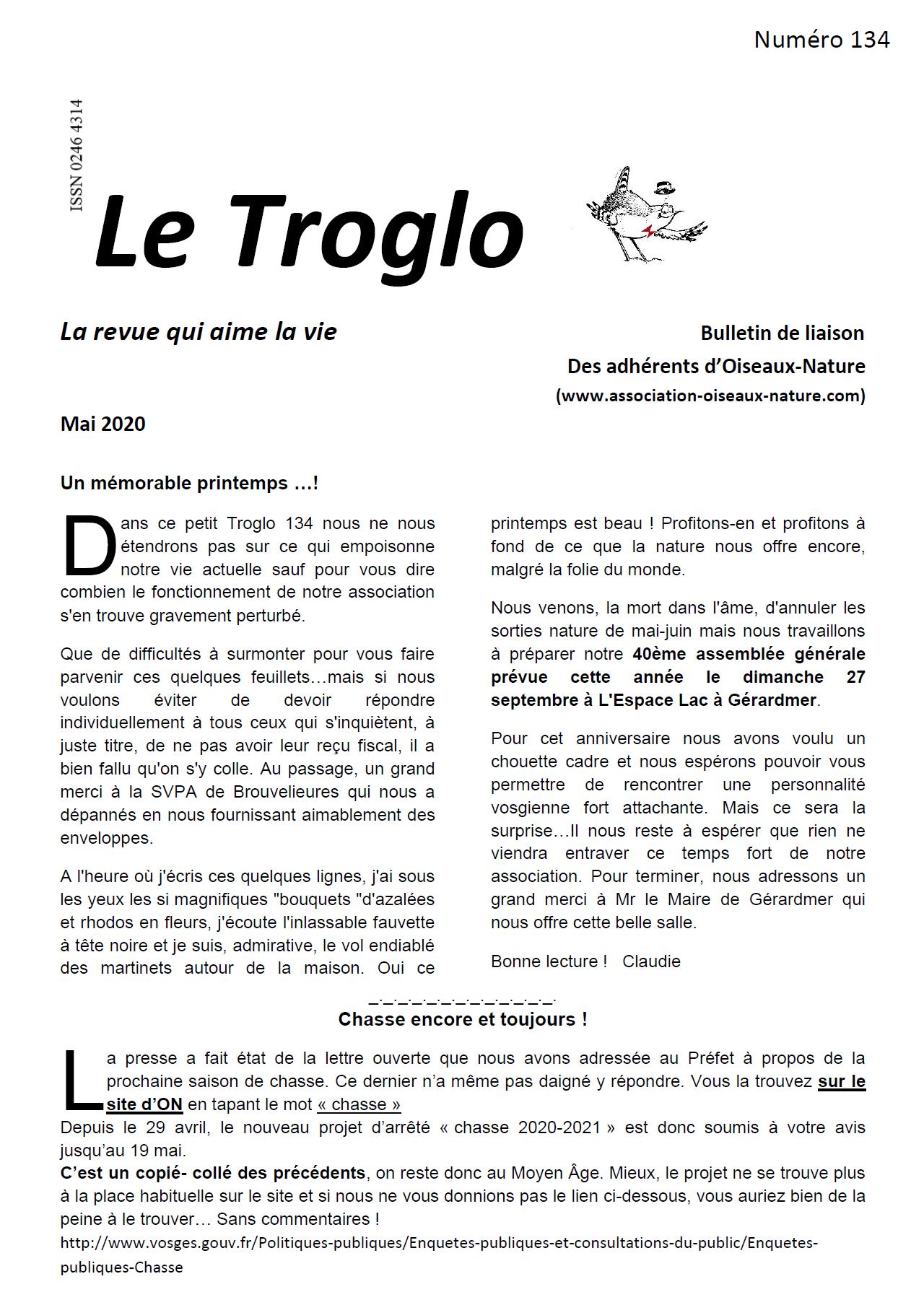 Le Troglo n°134 - Mai 2020