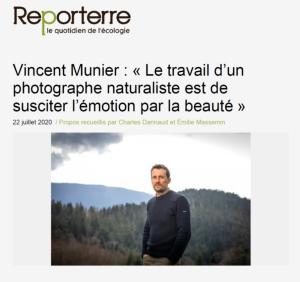 Vincent Munier - Reporterre 22-07-2020 - AG 2020 40 ans Oiseaux Nature