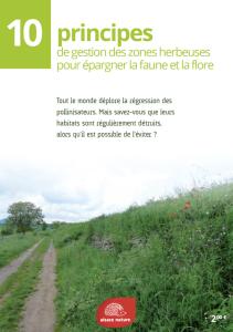 Alsace Nature - 10 principes de gestion des zones herbeuses pour épargner la faune et la flore
