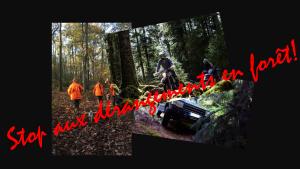Stop aux dérangements en forêt