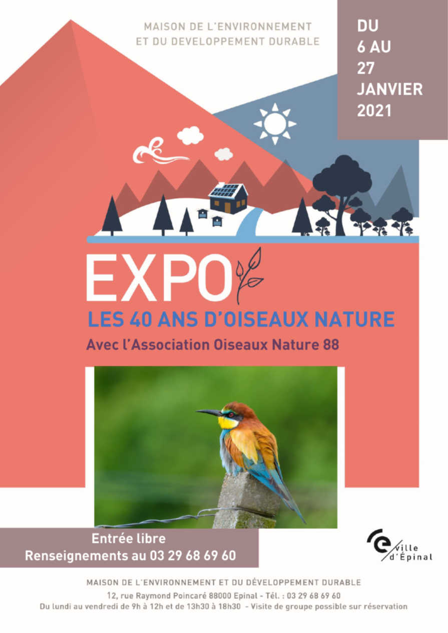 Exposition photos naturalistes: les 40 ans de Oiseaux Nature