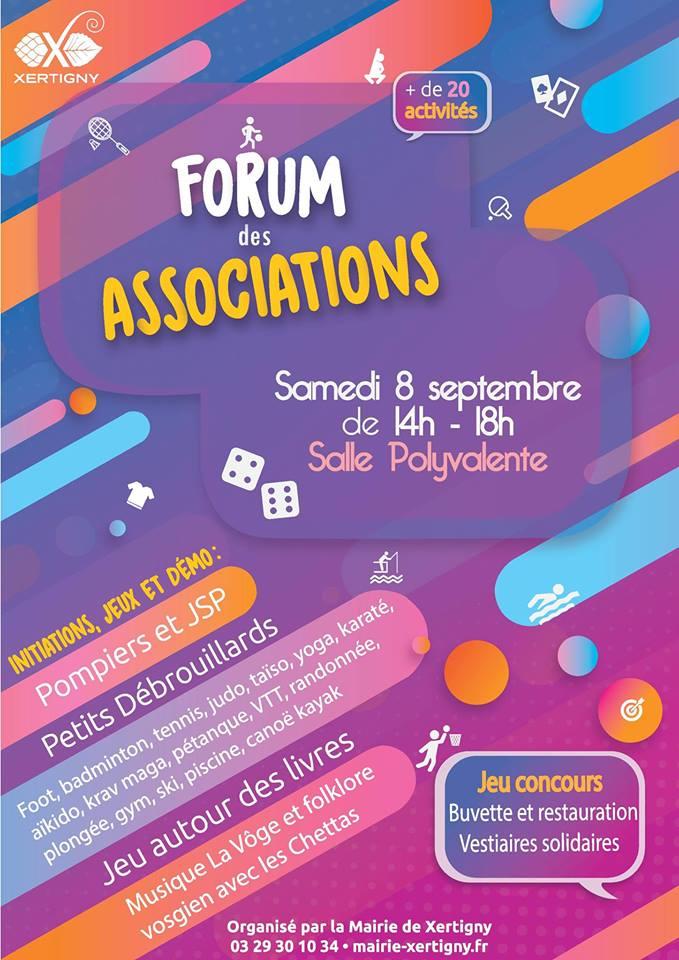 Forum des associations Xertigny 08-09-2018