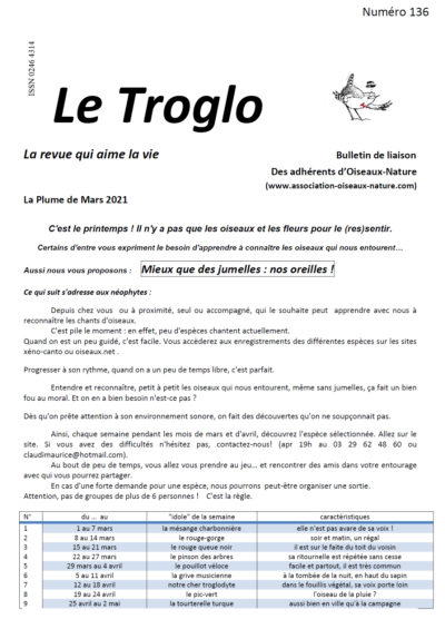 Le Troglo n°136 - Mars 2021