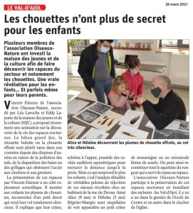 Le val d'Ajol-Les chouettes n'ont plus de secret pour les enfants - Vosges Matin 29-03-2021