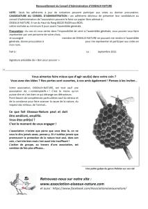 Invitation AG Oiseaux Nature 2021-2