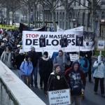 24 Manifestation contre les tirs de loups Lyon 16-01-2016
