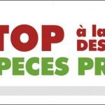 banderole Stop à la destruction des espèces protégées Oiseaux Nature