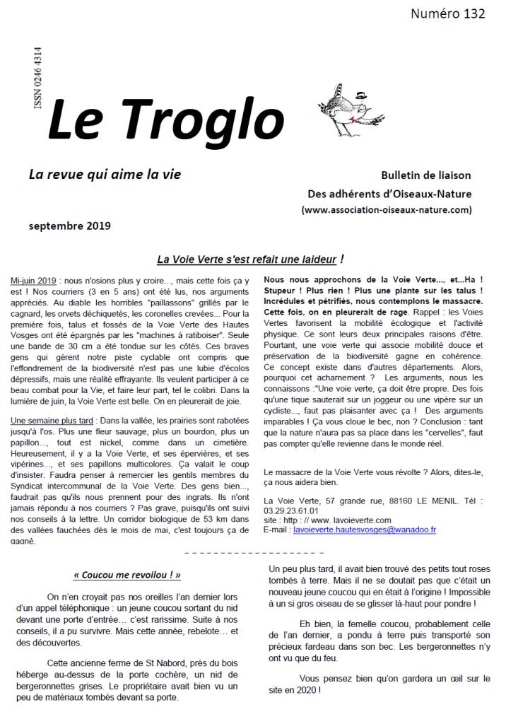 Le Troglo n°132-Septembre 2019