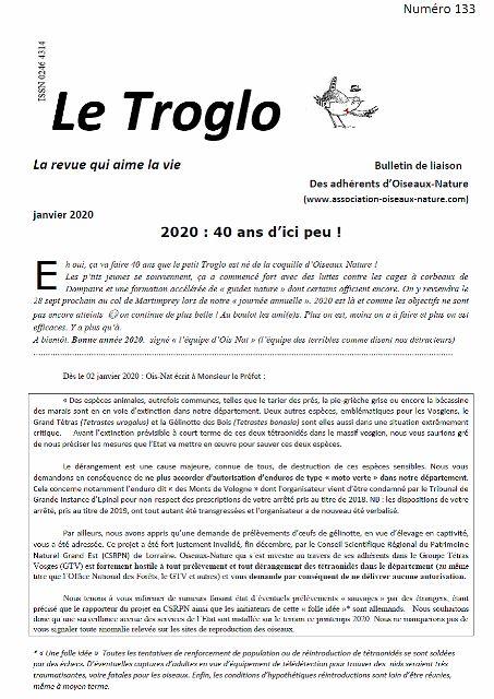 Le Troglo de Janvier 2020 n°133